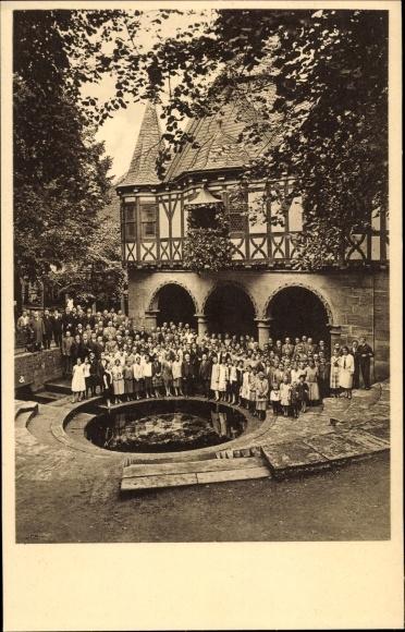 Ak Mühlhausen im Thüringer Unstrut Hainich Kreis, Chor des Arion, Mädchenbrunnenfest 1927