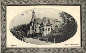 Präge Passepartout Ak Aachen in Nordrhein Westfalen, Partie am Waldschlösschen