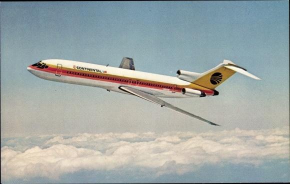 Ak Continental Airlines, 727 Trijet, Passagierflugzeug