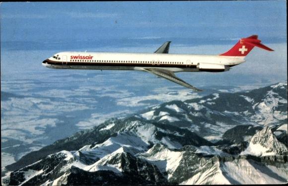 Ak Swissair, McDonnell Douglas MD 81, Passagierflugzeug