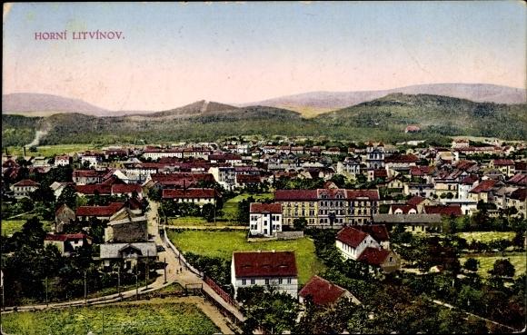 Ak Litvínov Oberleutensdorf Reg. Aussig, Teilansicht von der Stadt