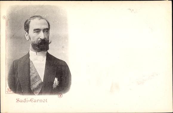 Ak Französischer Politiker und Staatspräsident Marie François Sadi Carnot, Portrait