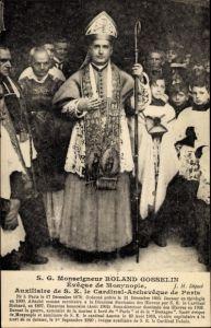 Ak S. G. Monseigneur Roland Gosselin, Éveque de Mosynople, Mitra, Krummstab