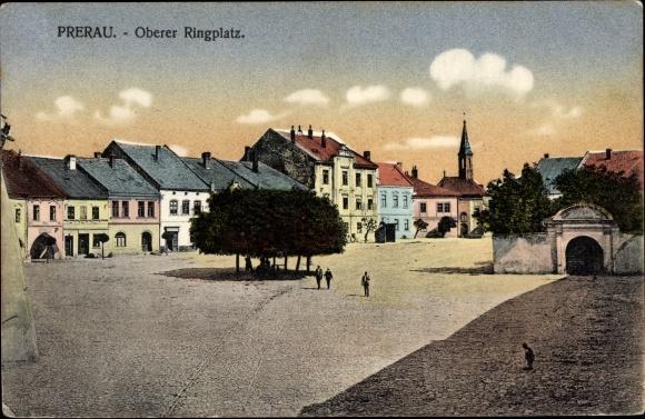 Ak Přerov Prerau Reg. Olmütz, Oberer Ringplatz, Kirche