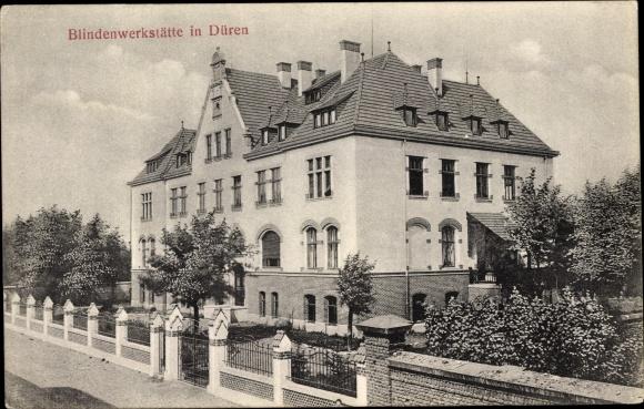 Ak Düren in Nordrhein Westfalen, Blindenwerkstätte