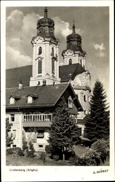 Ak Lindenberg im Allgäu Schwaben, Stadtpfarrkirche St. Peter und Paul