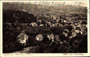 Ak Gernrode Quedlinburg im Harz, Villen am Osterberg, Panorama vom Ort
