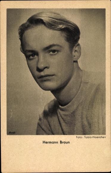 Ak Schauspieler Hermann Braun, Portrait, Ross Verlag