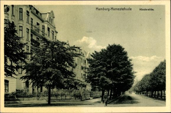 Ak Hamburg Eimsbüttel Harvestehude, Klosterallee, Straßenpartie