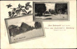 Ak Hamburg Eimsbüttel Lokstedt, Zum Lindenpark, Bes. Ferd. Schröder, Doppeleiche