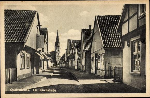 Ak Quakenbrück in Niedersachsen, Große Kirchstraße