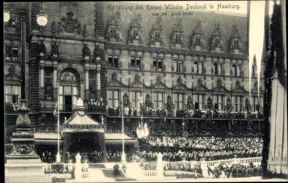 Ak Hamburg Mitte Altstadt, Enthüllung des Kaiser Wilhelm Denkmals am 20. Juni 1903