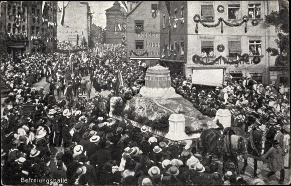 Ak Nürnberg in Mittelfranken Bayern, 8. Deutsches Sängerbundesfest 1912, Befreiungshalle