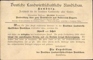 Ak Hamburg, Deutsche Landwirtschaftliche Rundschau, Zeitschrift