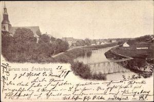 Ak Tschernjachowsk Insterburg Ostpreußen, Teilansicht vom Ort