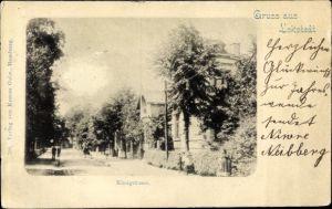 Ak Hamburg Eimsbüttel Lokstedt, Blick in die Königstraße, Stadtansicht
