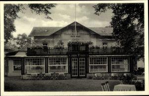 Ak Hamburg Eimsbüttel Lokstedt, Blick auf Alwin Münsters Gasthof, Garten