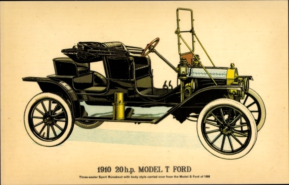 Ak 1910 20 HP Model T Ford, Three seater Sport Runabout, Automobil, Oldtimer