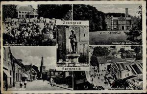 Ak Barneveld Gelderland Niederlande, Kippenmarkt, Schoutenstraat, Kastel de Schaffelaar