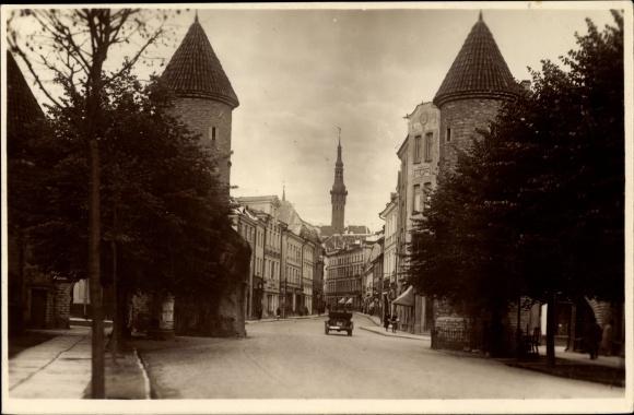 Ak Tallinn Reval Estland, Viru uul, Straßenpartie in der Stadt