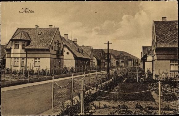Ak Košice Kassa Kaschau Slowakei, Straßenansicht, Wohnhäuser