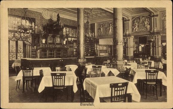 Ak Köln am Rhein, Hotel Belgischer Hof, Bierstall, Innenansicht