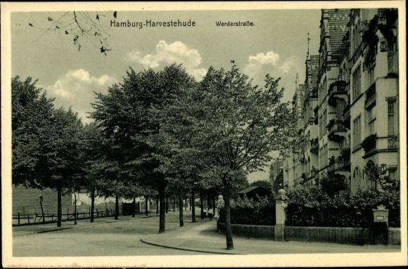 Ak Hamburg Eimsbüttel Harvestehude, Werderstraße