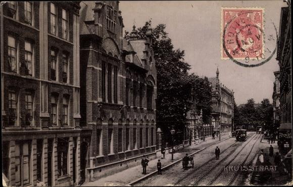 Ak Rotterdam Südholland Niederlande, Kruisstraat, Straßenpartie