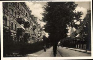 Ak Sowjetsk Tilsit Ostpreußen, Lindenstraße, Straßenpartie