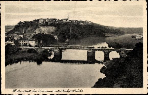 Ak Hohnstädt Grimma in Sachsen, Partie an der Muldenbrücke