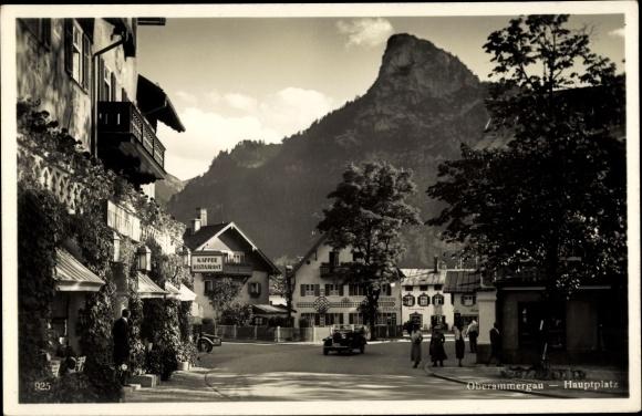 Ak Oberammergau in Oberbayern, Partie am Hauptplatz