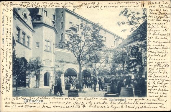 Ak München in Bayern, Ansicht vom Hofbräuhof
