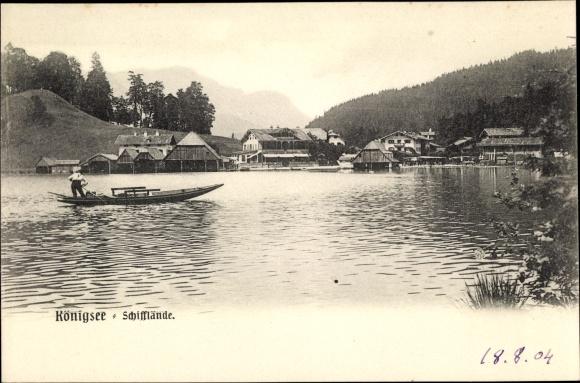 Ak Schönau am Königssee, Partie vom See, Schifflände
