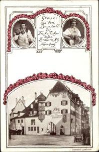Ak Nürnberg in Mittelfranken Bayern, Braustübl der Freiherr von Tucher´schen Brauerei AG