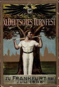 Künstler Ak Frankfurt am Main, XI. Deutsches Turnfest Juli 1908, Turner