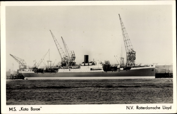 Ak Passagierschiff, MS Kota Baroe, KRL, Hafenpartie