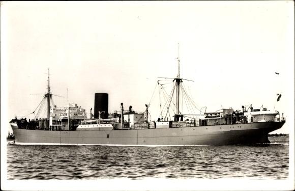 Ak Frachtschiff, MS Tosari, KRL, Ansicht Backbord