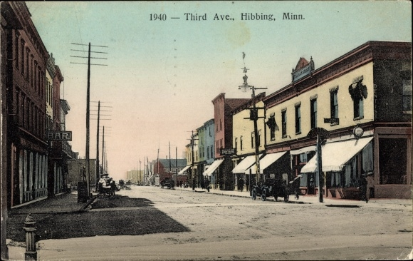 Ak Hibbing Minnesota USA, View of the Third Avenue