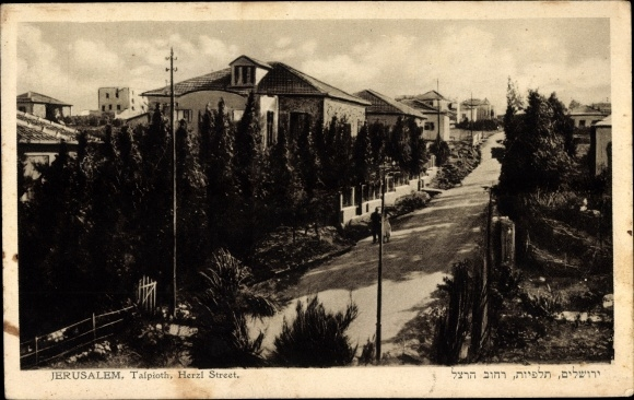 Ak Jerusalem Israel, Talpioth, View of the Herzl Street