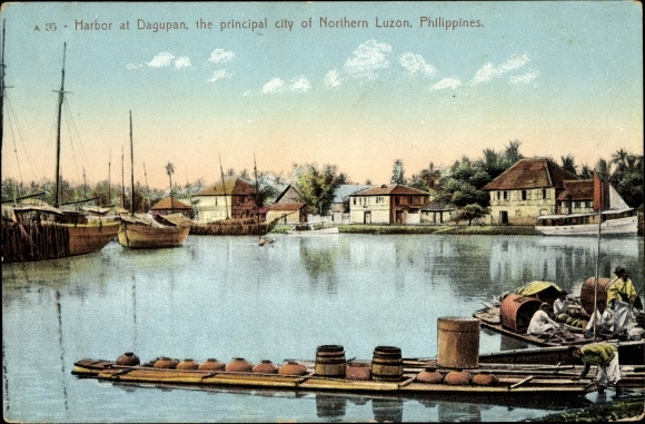 Ak Dagupan Philippinen, View of the Harbour, Hafenpartie