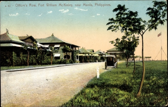 Ak Manila Philippinen, Officers Row, Fort William Mc Kinley