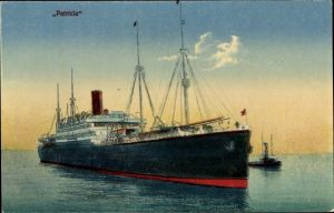 Ak Dampfschiff Patricia der HAPAG in Fahrt, Lotsenschiff