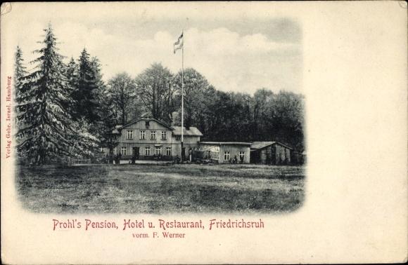 Ak Friedrichsruh Aumühle in Schleswig Holstein, Prohl's Pension, Hotel und Restaurant