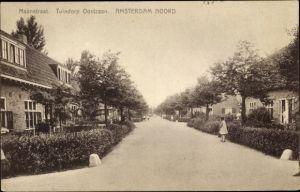Ak Amsterdam Noord Nordholland Niederlande, Maanstraat, Tuindorp Oostzaan