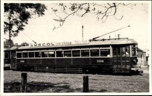 Foto Ak Adelaide Australien, H Class Interurban Tram, Straßenbahn Wagen 368, Reklame Amscol IceCream