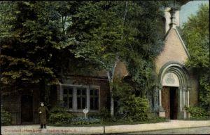 Ak Hamburg Nord Ohlsdorf, Blick auf die Kapelle II auf dem Friedhof, Trenkler Hbg. 426