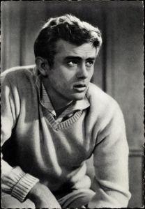 Ak Schauspieler James Dean, Portrait, Warner Brothers