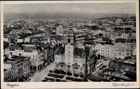 Ak Opava Troppau Reg. Mährisch Schlesien, Schmetterhaus, Vogelschau