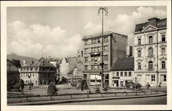 Ak Liberec Reichenberg Stadt, Namesti Kl. Gottwalda, Platz