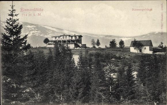 Ak Bei Jagniątków Agnetendorf Hirschberg Riesengebirge Schlesien, Bismarckhöhe
